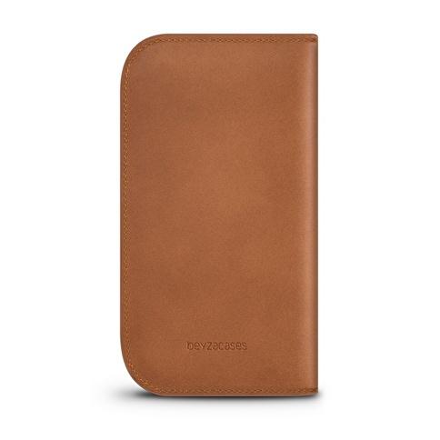 Beyzacases iPhone 6 / 6s Naturel Wallet Taba